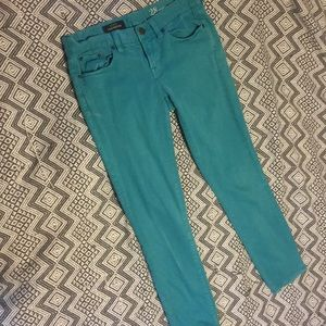 Teal toothpick J Crew Ankle pants